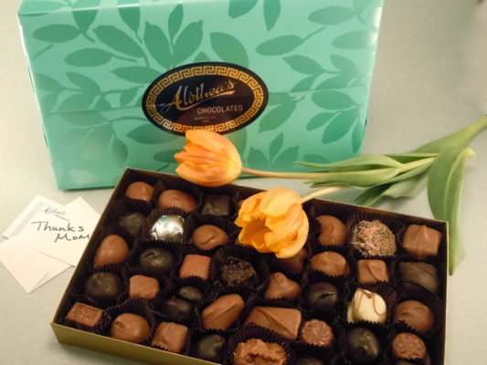 Beautiful Box of assorted Gourmet Mother's Day Chocolates