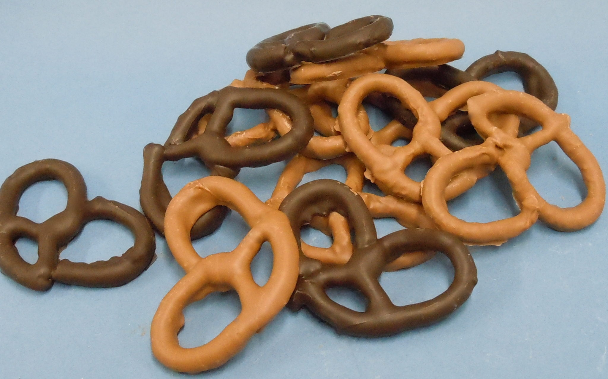 Yummy chocolate covered pretzel rings
