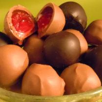 Bowl of juicy gourmet Cherry Cordials