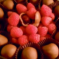 delicious chocolate raspberries