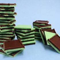 stacks of gourmet chocolate mints