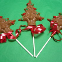 Chocolate Christmas tree Pop decorated for the Holidays