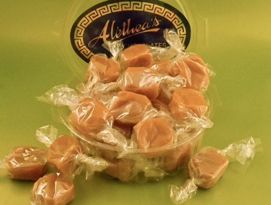 Dish of hand made Butter Caramels