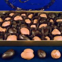 gourmet boxed nuts covered in premium chocolate