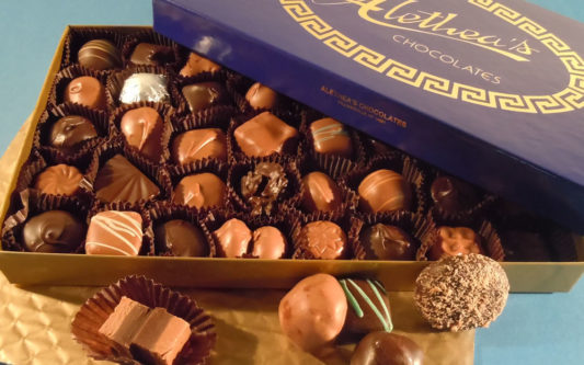 box milk & dark chocolates, gourmet chocolate assortment