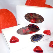 Boxes of Chocolate mini Hearts for Valentines
