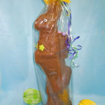 "Beautiful 24"" hand decorated chocolate Easter Bunny"
