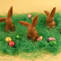 flop-eared chocolate Easter bunnies