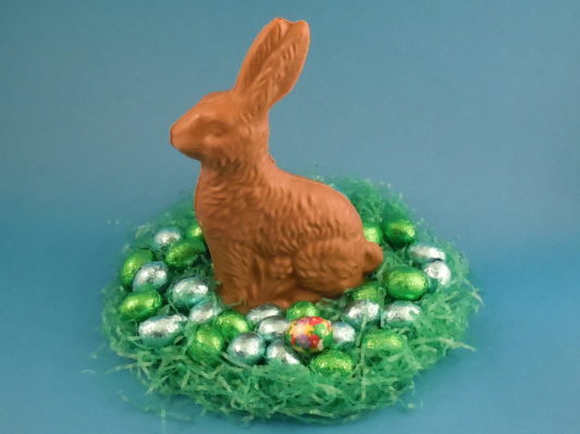 Solid chocolate sitting Easter bunny rabbit