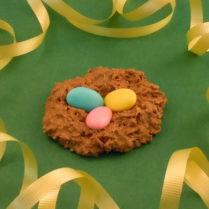 littel coconut milk chocolate Easter egg nest
