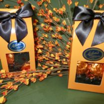 Chocolate minikins in a Halloween box