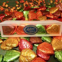 colorful foiled chocolate Fall leaves