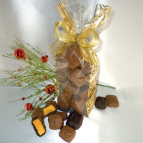 Holiday decorated bag of premium Sponge Candy