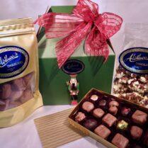 treasure box of chocolate confections