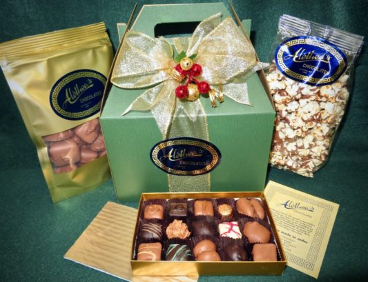 Handle gift box of gourmet Chocolate confections