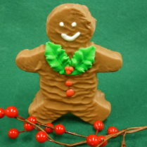 Adorable Sponge Candy cut out to look like gingerbread man