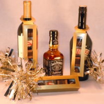 Truffle Boxes hung on bottles of spirits