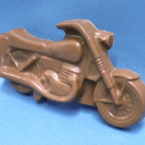impressive looking chocolate motorcycle