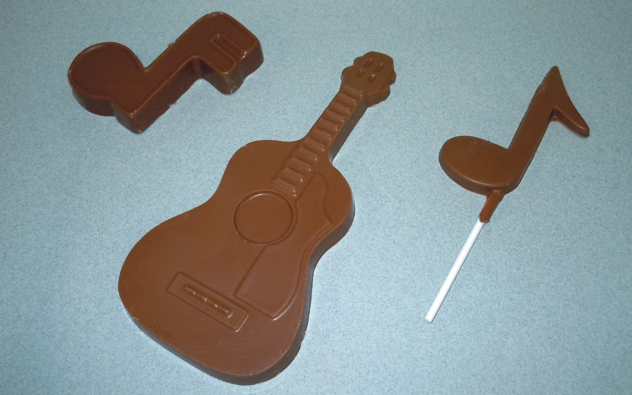 Solid Chocolate guitar, Music note & music lollipop