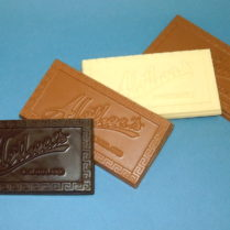 premium Bar of gourmet chocolate with the Alethea logo