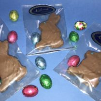 Adprable blue eyed sponge candy bunnies for Easter