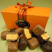 Fall festive box of hand made Sponge Candy