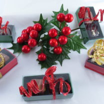 Charming 2 piece Truffle Boxes decorated for the Holidays