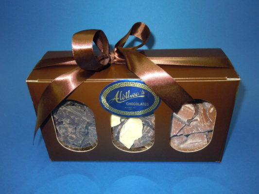 Box of 4 varieties of Gourmet Chunk Chocolate