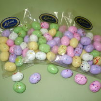 Colorful malted milk chocolate Eastereggs