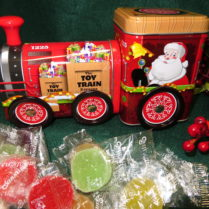 Train Tin filled with fruit jellies