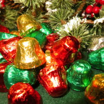 Brightly foiled Chocolate Bells
