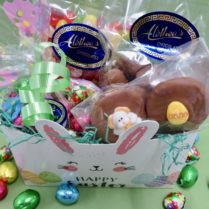 charming bunny box filled with gourmet chocolates & Easter goodies