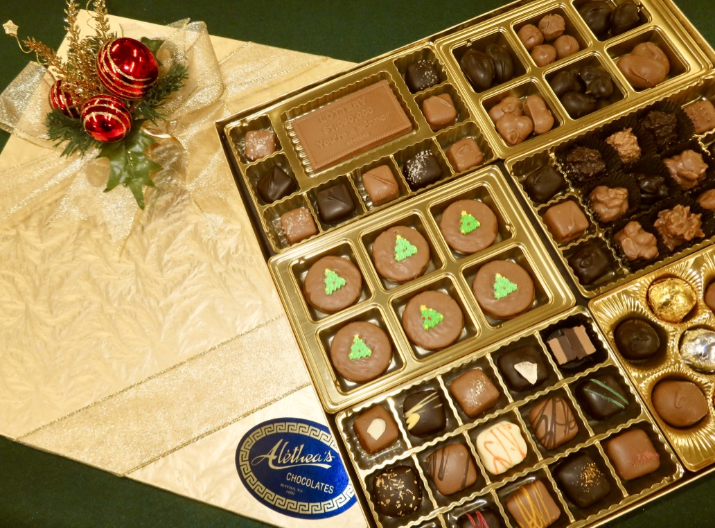 large fancy gift box of Holiday Chocolates