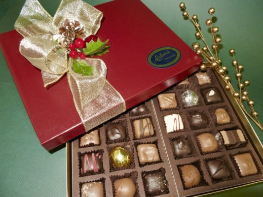 beautiful Holiday gift of assorted gormet chocolates