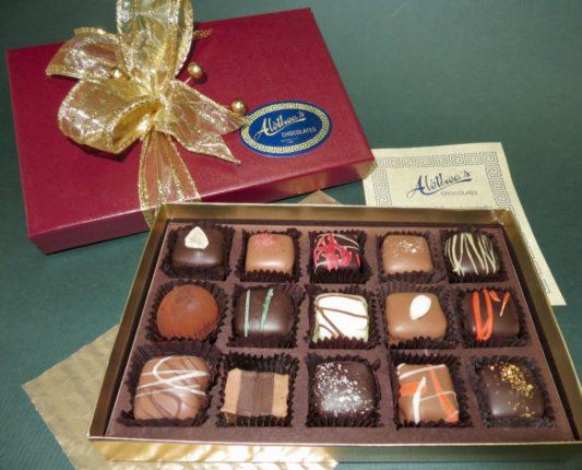 beautiful Holiday gift box of gourmet Truffles