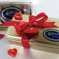 Valentine tin of gourmet butter cookies