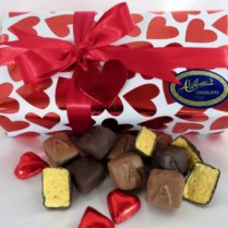 Beautiful Valentine Box of gourmet Sponge Candy