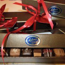 petite Valentine keepsake box filled with artisan Truffles