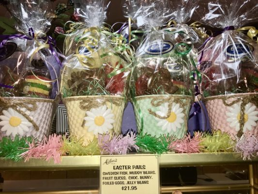 Pretty Easter Baskets with gourmet Goodies