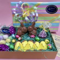 Complete charming Easter Basket of gourmet Chocolates in a box