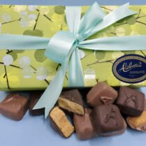 Gift box of gourmet Sponge Candy wrapped in Summer colors