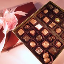 Exceptional premium gift box of gourmet chocolates