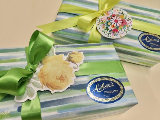 beautifully decorated gift boxes of gourmet Sponge Candy