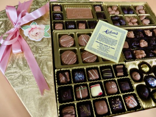 spectacular Mothers Day box of gourmet chocolates