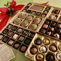 grand Holiday display box of gourmet confections