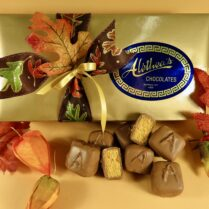 Elite gift of gourmet Sponge Candy wrapped and decorated for Fall