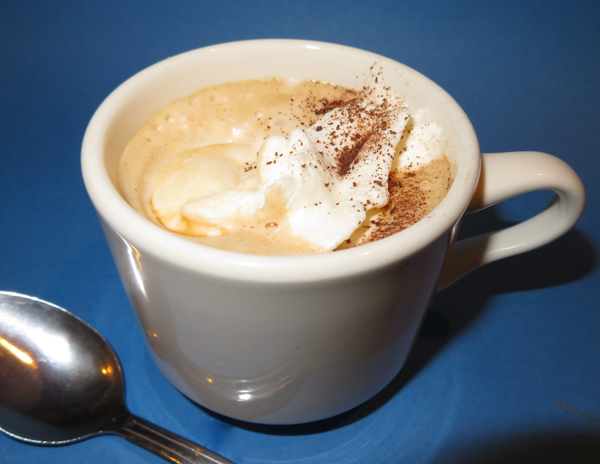 creamy mix of ice cream and espresso