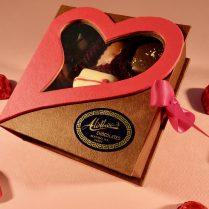 Unique Valentine window box of chocolates