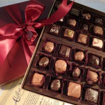 Valentine box of gourmet chocolates