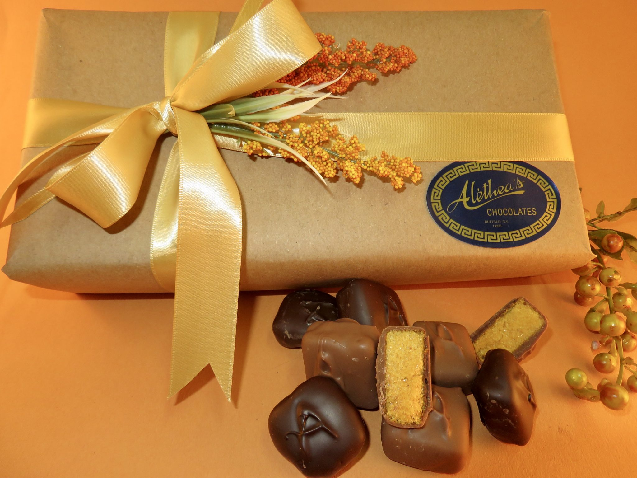 Elite Fall decorated box of gourmet Sponge Candy